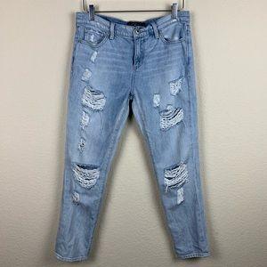 LUCKY BRAND Sienna Slim Boyfriend Distressed Jeans